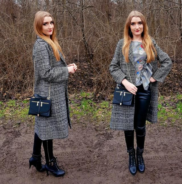 Coat, blouse and bag <3