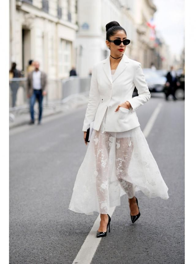 Can you rock a white blazer like this?