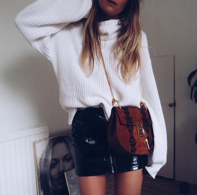 Skirt bag and sweater in Zaful`s colection