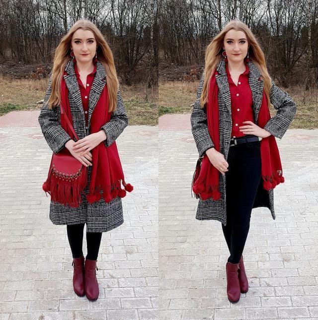 Plaid coat <3