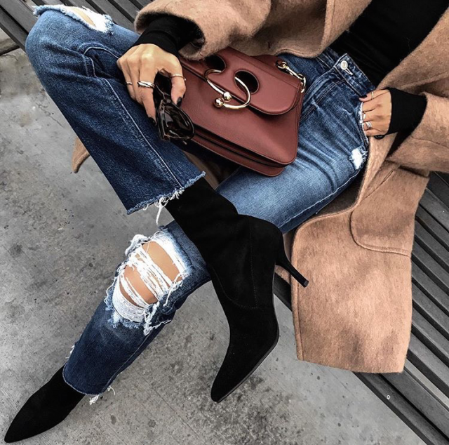 Nice look with bags and boots