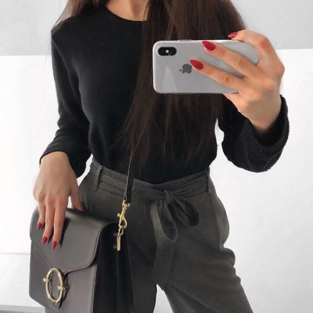 love this High Waisted Belted Narrow Feet Pants look so classy and chic