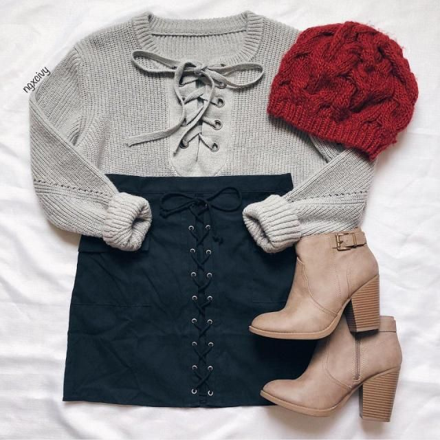 lace up outfit is so cute what do you think about it?