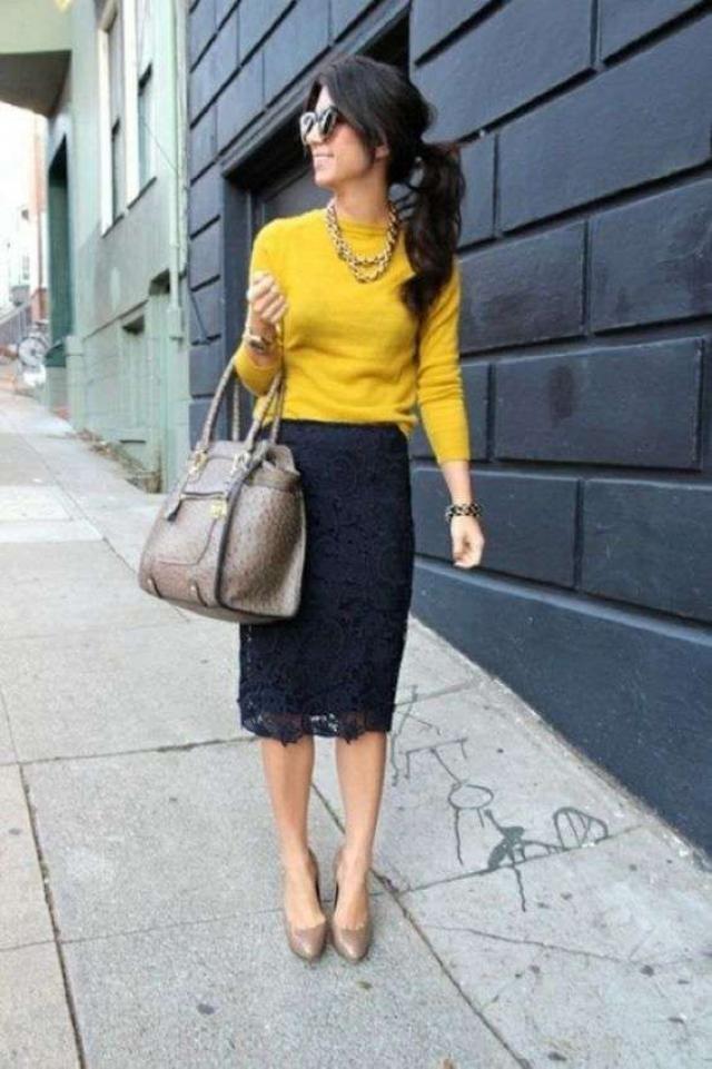 yellow sweater!!