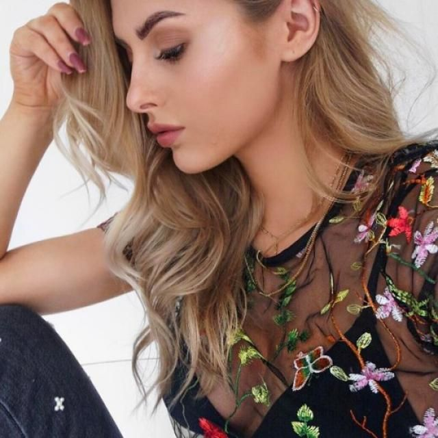 OMG floral mesh are pretty fashionables, very beaautiful and every time they are getting more trending! you can wear it…