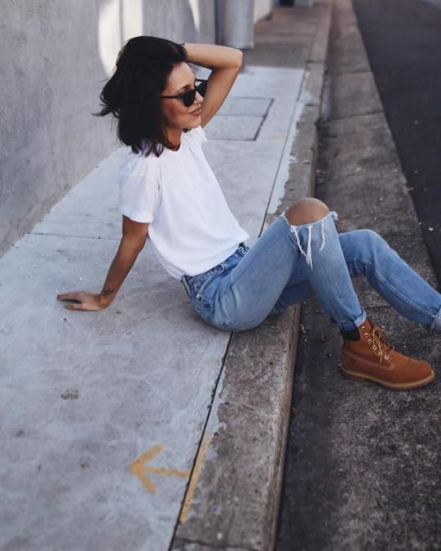 Jeans and boots!