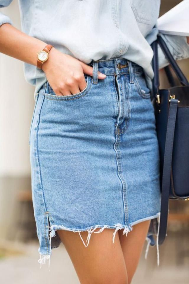 jeans skirts are so cool