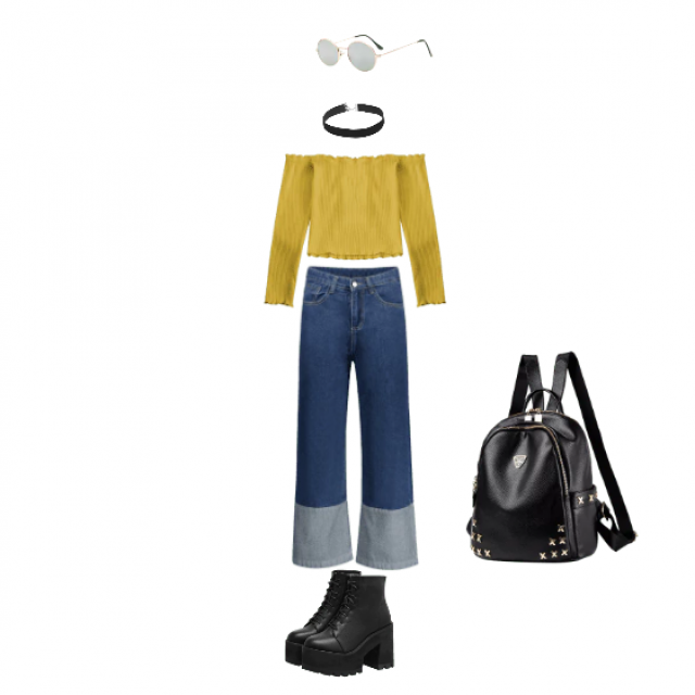 This is more of a school/casual/punk style. I like it because it has bright colors, as well as dark details, such as th…