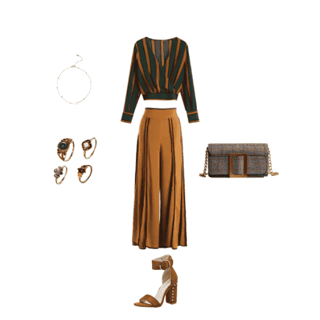 Going for brunch or to work on this formal/elegant outfit will show your stylish side. Love the rings, and the cute lit…