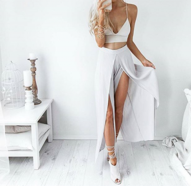 This cute outfit for dinner date, yas or nah?