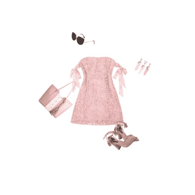 feminine pink look