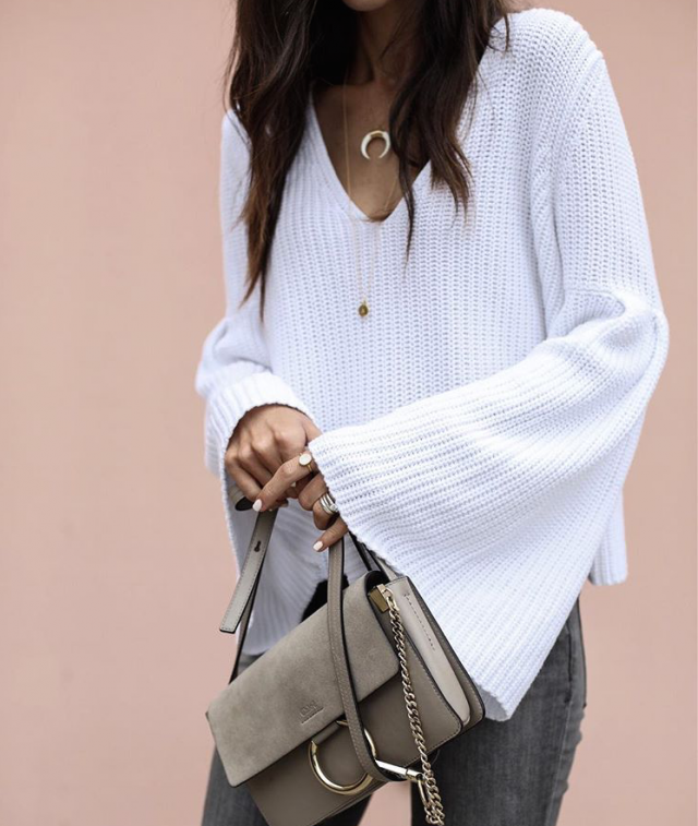 Nice white sweater for woman