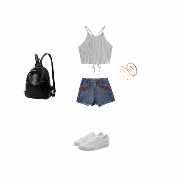 a cute summer outfit for hot days