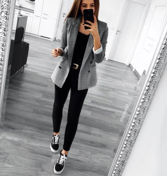 Put this plaid blazer on any outfit and it will look more classy