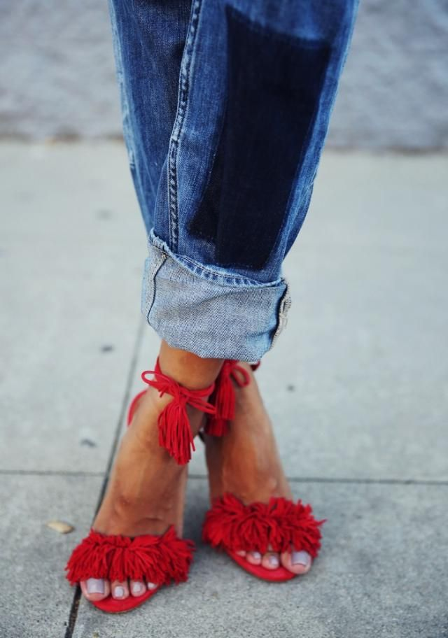 Festive shoes makes every girl complete        -Strap