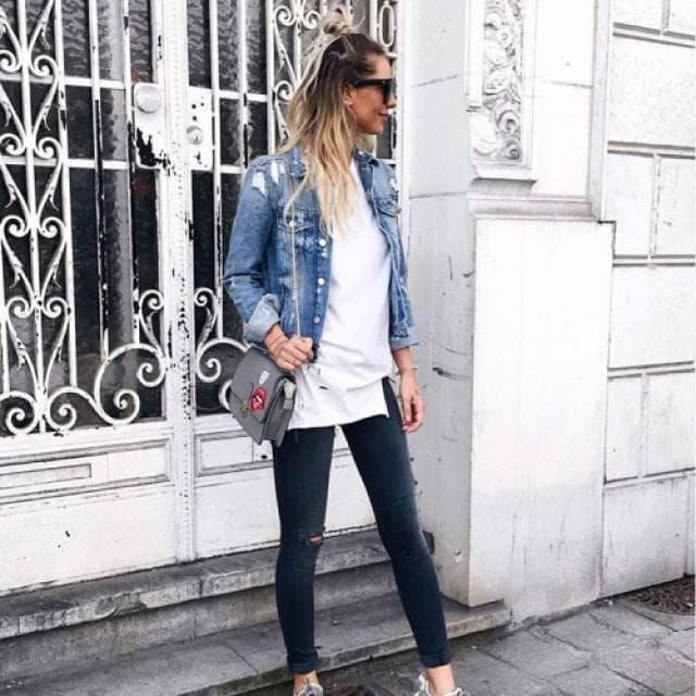 I'm a denim love, and the denim jackets are LIFE, you can wear it any time with any outfit and look as taken from a mag…