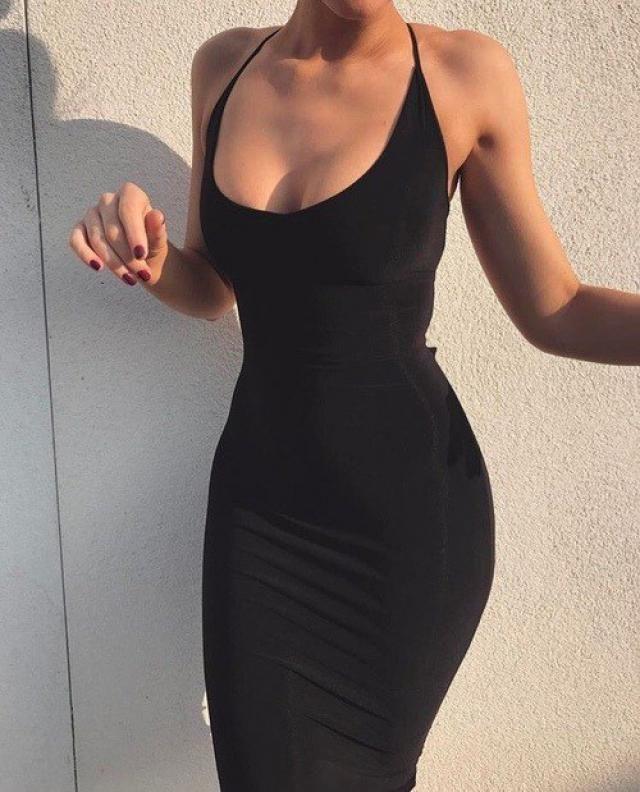 Sexy Black Cami Dress