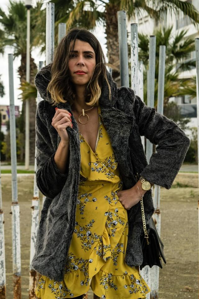Really nice yellow wrap dress