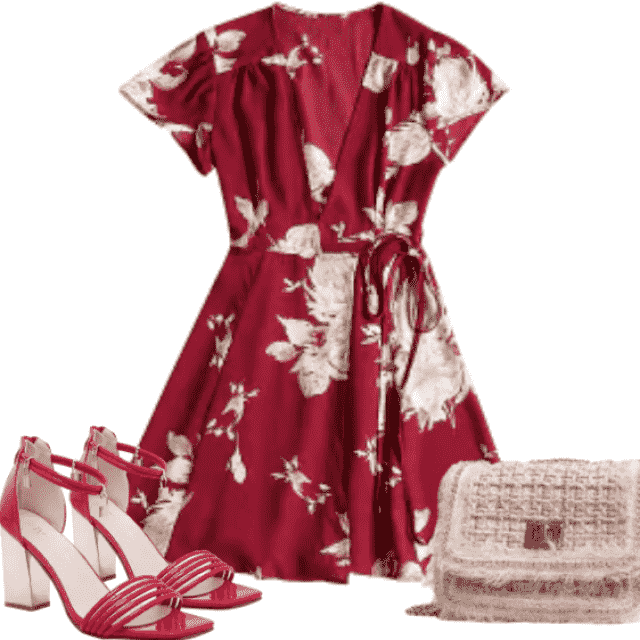 So romantic and fashionable outfit. This dress have amazing material. Be different with this combination. Gr…