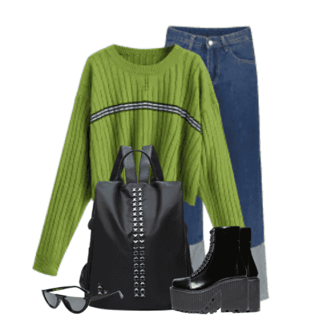 Fabulous combo -  sweater and jeans