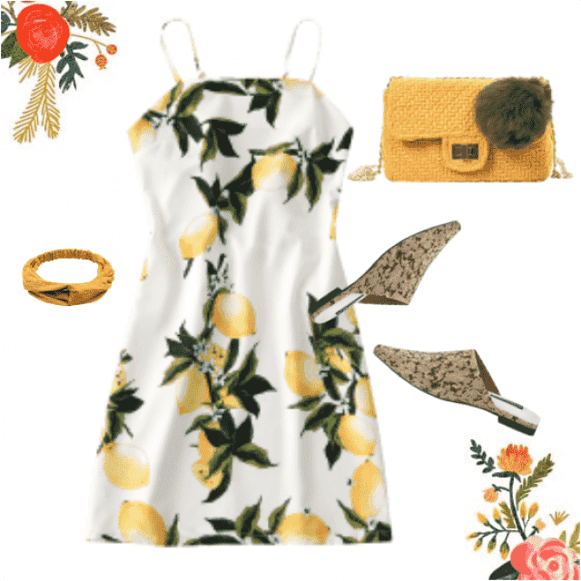This is so cool floral outfit!