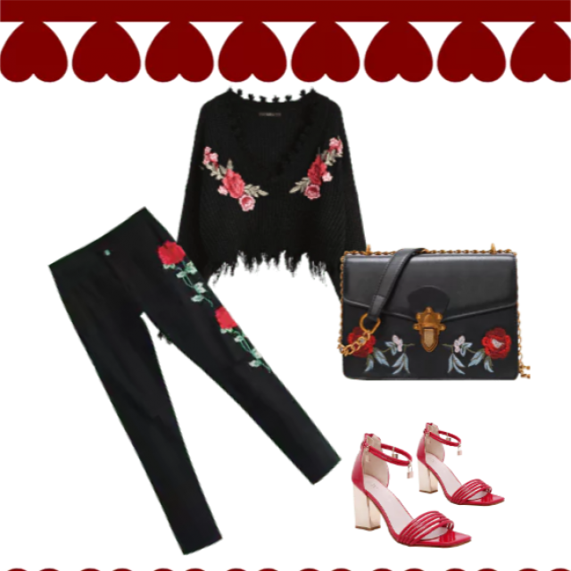 This is trendy floral outfit!
