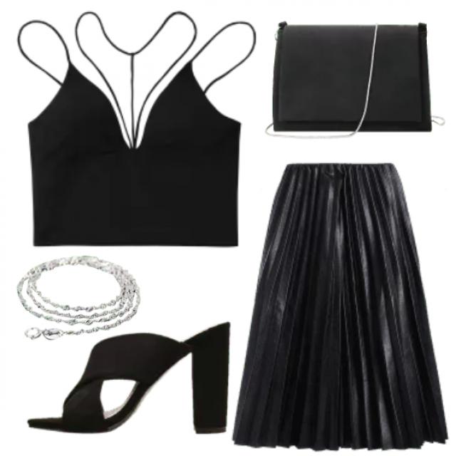 # shoes# bracelet# bag# top # black# women # fashion #