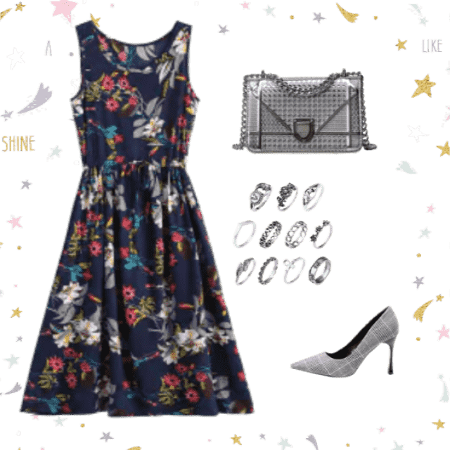 This cute dress is to impress. 