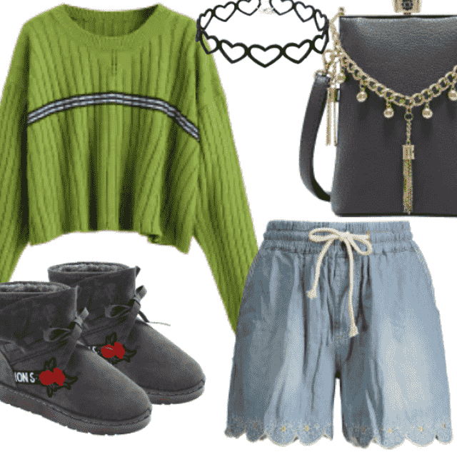 Casual Green Sweater for casual day. Be different with this combination. Great style only with ZAFUL.  So styl…