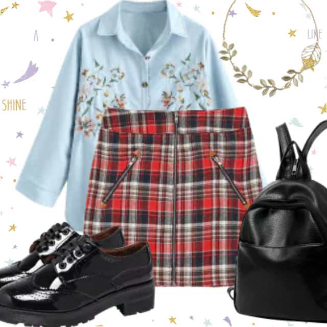Back to School outfit. So fashionable stuff for fashion girls. Be different with this combination. Great sty…