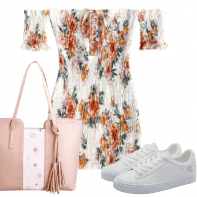 Cute dress have so amazing material. This outfit are made for summer trip. Be different with this combination. …