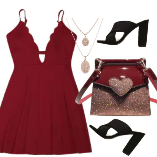red dress     Modern women