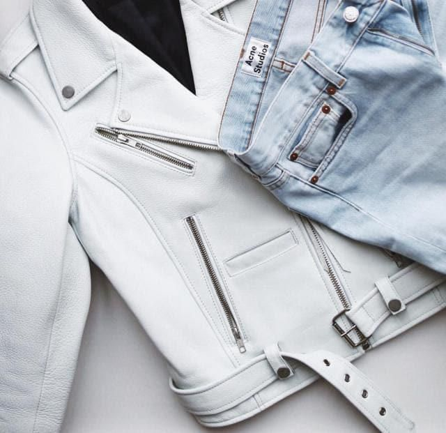 White leather jacket it's perfect for this season!!!♥ white is one of the colours of this season!!☻♥