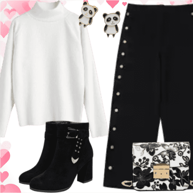 Fashion white sweater have beautiful material. With this sweater black pants and black shoes are the best …