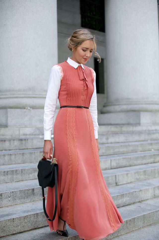 Blouse under dress