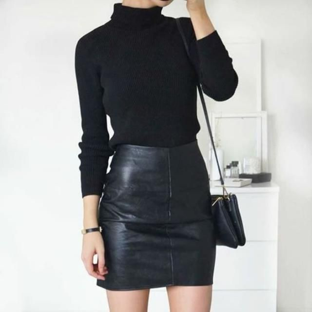 Faux leather skirts can make any outfit look better