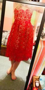 6e6a17e338 37% OFF  2019 Cami Crochet Flower Midi Dress In RED
