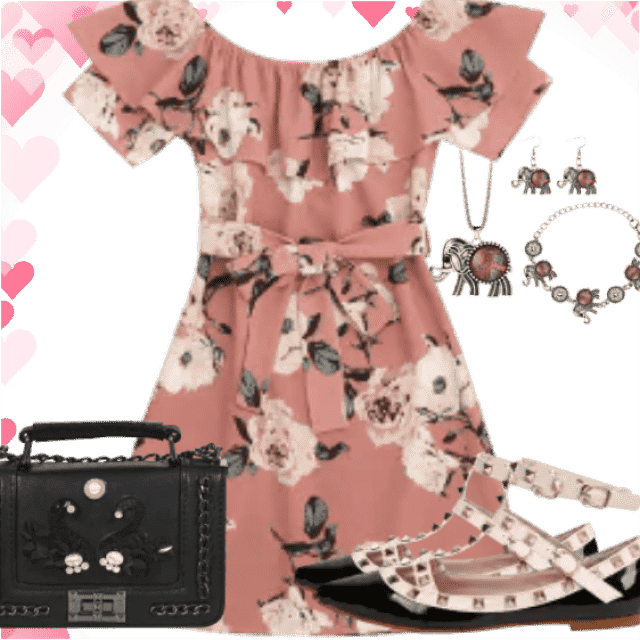 Ready for holidays with this floral dress. So cute shoes have amazing effect. Also black bag is so beauti…