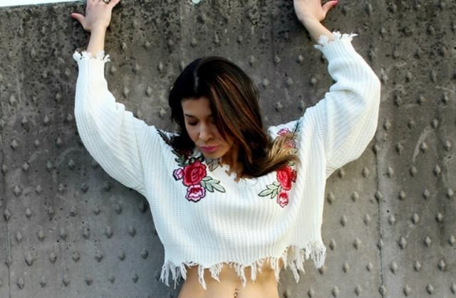 white floral fashion blouse, I loved it