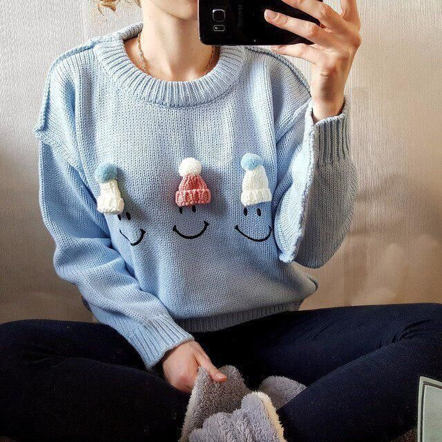 Cute Blue Sweater