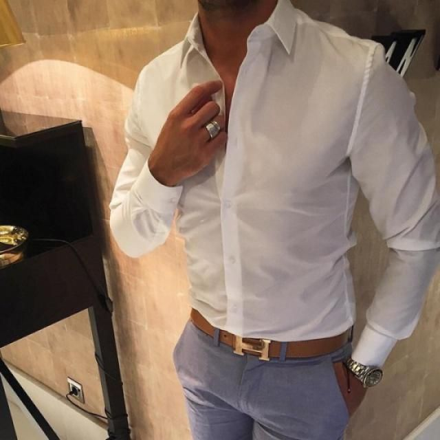 If you got a guy, i'm sure you want him to look his best. You can achieve that easily by getting this starter white shi…