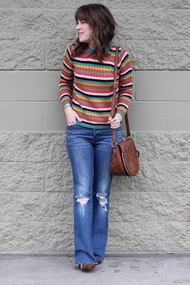 This is a great option for a colder spring. The colors are fun and bright, but since it&;s knit it&;s a bit warmer.