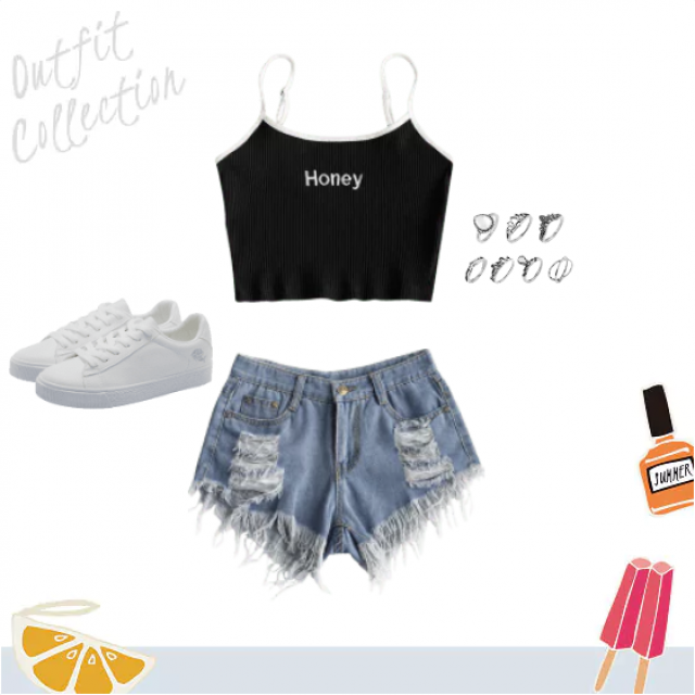 an easy, simple but cute summer outfit