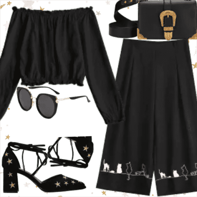 Black evening outfit. So trendy clothes. Great style only with ZAFUL.  So stylish and lovely stuff for fash…