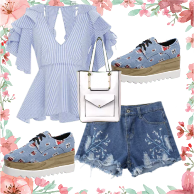 School summer day outfit