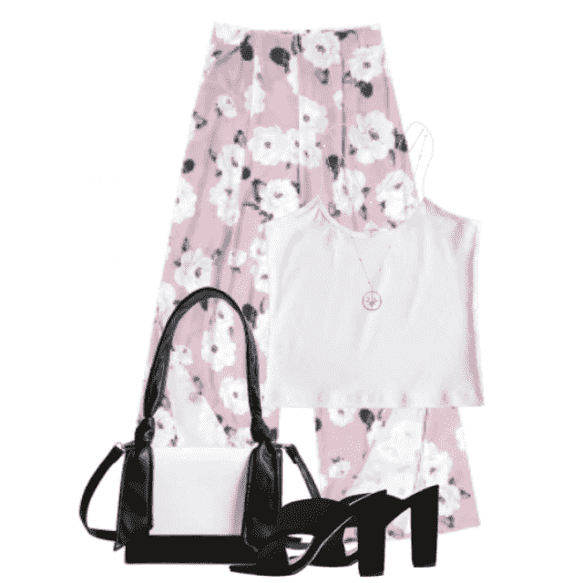 Beautiful and trendy white summer top - perfect with the flowerprinted pants