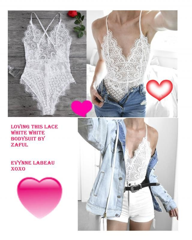 Love this gorgeous Scaolloped Sheer Eyelash Lace Teddy Bodysuit