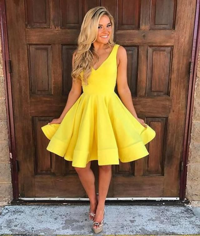 yellow dress..