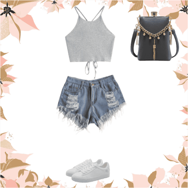 This outfit is just perfect for the summer or just going out in the hot weather