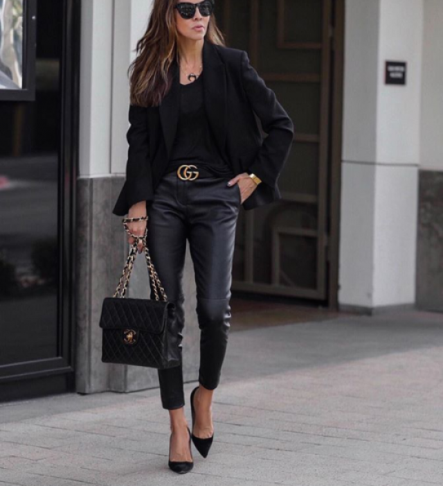 Would you wear leather along with a casual blazer to work?